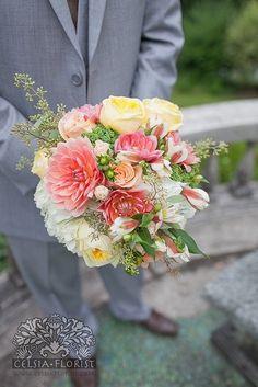 Beautiful color palette   Bouquet by http://celsiaflorist.com