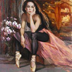 """""""Beauty"""" by Irene Sheri (On my board """"Dancing in art - painting Mirror - Art"""" . Irit Volgel)."""