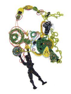 "jscott_""Blackgirl""_Handstitched glass beads"