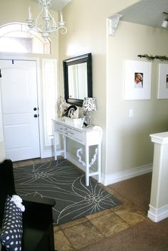 The House of Smiths - Home DIY Blog - Interior Decorating Blog - Decorating on a Budget Blog  Entry way mirros and tables