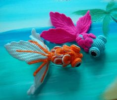 #crochet, free pattern, amigurumi, goldfish, Ravelry, #haken, gratis patroon…