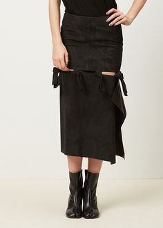 Acne Studios Hein Leather Skirt (Black)