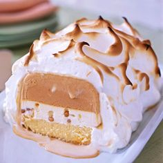 Delicious fall #dessert: Pumpkin Baked Alaska. http://www.parents.com/recipe/cakes/pumpkin-baked-alaska/?socsrc=pmmpin100312fPumpkinBakedAlaska