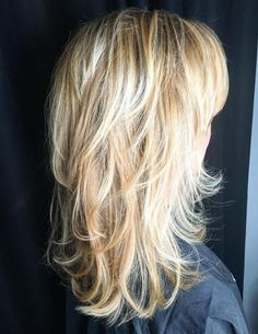 Blonde Layered Hairstyle With Flipped Ends laagjes 60 Lovely Long Shag Haircuts for Effortless Stylish Looks Long Shag Hairstyles, Haircuts For Long Hair, Layered Haircuts, Cool Hairstyles, Wedding Hairstyles, Boy Haircuts, Blonde Hairstyles, Pixie Haircuts, Men's Hairstyles