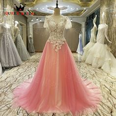 Prom Dresses New Design A line Luxury Evening Dresses Party Dress vestido de noite Prom Gowns