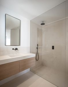 PP Apartment by Jorge Bibiloni. Firm based in Spain. #industryofmine #design #interiordesign #jorgebibiloni #bathroom #timber #stone #tapware #shower