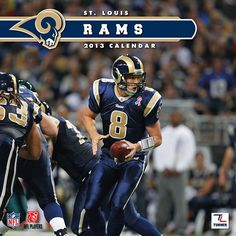 St. Louis Rams Wall Calendar: Specially designed for the die-hard St. Louis Rams fan, Turner Licensing presents the ultimate 2013 NFL wall calendar! Your favorite players are displayed in vivid action-packed images along with player bios, team trivia and noteworthy NFL historical dates every month.  http://www.calendars.com/St.-Louis-Rams/St.-Louis-Rams-2013-Wall-Calendar/prod201300001250/?categoryId=cat00509=cat00509#
