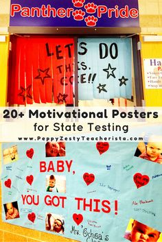 Are you an elementary teachers looking for a little state testing motivation? These state testing encouragement posters are perfect classroom décor and boost the kids morale! Great classroom management and classroom ideas inside!