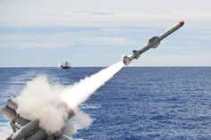 A Harpoon missile. by Official U.S. Navy Imagery.