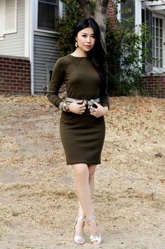 Jenny Wu from Good, Bad & Fab featured in our Fall 2012 knit dress on @Saks Fifth Avenue POV