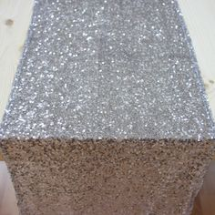 Sequin Table Runner - Silver [Silver Sequin Table Runner For our Holiday Party