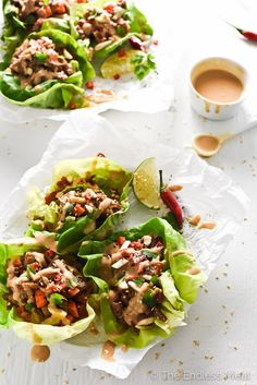 ... wraps with ginger lime satay thai lettuce wraps with ginger lime satay