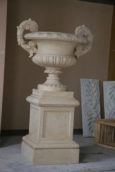 Large Buti Pedestal Planter Urn Temple 5 5' Tall New It | eBay