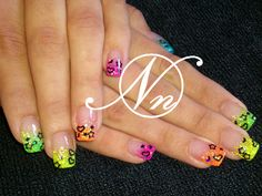 orange tip nails | ... & Gel Nail Art Gallery pictures - Crushed Shell - Glitter Nails