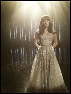 "Lea Michele filming ""Let It Go"" for Glee"