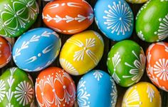 author: jenty / size: 8000x5333 / tags: colorful, Easter, eggs, Easter, holidays, happy, design, eggs, graphics