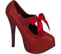 Bordello Teeze 04G - Red Mini Glitter - Free Shipping & Return Shipping - Shoebuy.com
