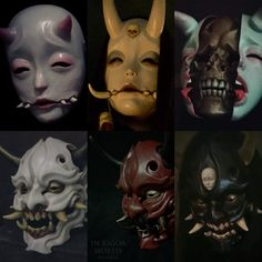 Cosplay kostüme Care Free Décor: Artificial Plants And Silk Flowers Article Body: Flowers and plants Character Inspiration, Character Art, Japanese Mask, Tattoo Japanese, Oni Mask, Mask Drawing, Japon Illustration, Cool Masks, Arte Horror
