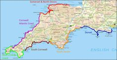 Map of South West Coast Path