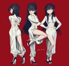 𝖿𝗋𝖾𝗇𝗀(@frengchiano2) 님의 미디어 트윗 / 트위터 Kawaii Anime Girl, Anime Art Girl, Character Design References, Character Art, Female Characters, Anime Characters, Anime Lineart, Anime Poses, Fashion Design Sketches