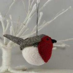 Felt RobinJ Christmas Decoration
