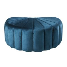 Shell Pouffe in Blue Velvet and Pine on Maisons du Monde. Take your pick from our furniture and accessories and be inspired! Dining Room Bench Seating, Living Room Chairs, Living Rooms, Hallway Furniture, Small Furniture, Velvet Footstool, Ottoman Footstool, Sun Lounger Cushions, Decorative Storage Boxes