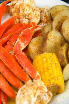 king Crab legs...i think ill serve with steaks, red lobster home made butter cheese biscuits, corn on the cob, and green beans :)  Good dinner = Happy family :)