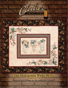 Machine Applique, Machine Embroidery Patterns, Embroidery Applique, Quilt Patterns, Embroidery Designs, Embroidery Supplies, Christmas Stockings, Vintage World Maps, Quilts