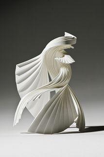 "*Paper Sculpture - ""Embrace"" by Richard Sweeney Abstract Sculpture, Sculpture Art, Paper Sculptures, Architecture Origami, Paper Artwork, Book Art, Design Graphique, Art Plastique, Les Oeuvres"