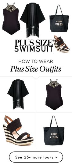 """plus size: Swimsuit"" by bettyjames on Polyvore featuring River Island, French Blu, Venus, onepieceswimsuit, stylishcurves, plussizeswimsuit and summer2016"
