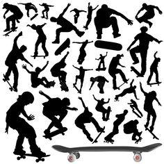 Foto über Ansammlung des Skateboardvektors im Schwarzen. Illustration von rohr, form, halb - 3872387 Bird Silhouette, Silhouette Vector, Vector Power, Airplane Vector, Satanic Art, Mountain Illustration, Tree Icon, Education Icon, Basketball Design