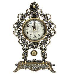 Antique Style Pendulum Table Clock, Desk Clock Home Decoration(Gold Color) Home Decoration, Desk Clock, Table, Antiques, Gold, Gifts, Ebay, Clock Table, Antiquities