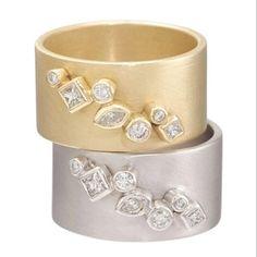 cigar band rings with diamonds. zaiken jewelry