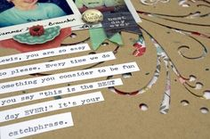 Using the Negative Space from Die Cuts and Punches on Scrapbook Pages