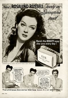 Rosalind Russell for Lux Soap