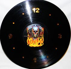 Harley Davidson Inspired Vinyl Record Wall by PandorasCreations, $25.00