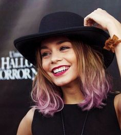 Vanessa Hudgens purple hair