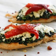 Grilled chicken with spinach and mozzarella cheese