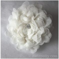 giant white fabric flower...