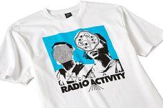 RADIO ACTIVITY TEE - WHITE – BRAIN DEAD