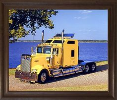 Freightliner Blue Diesel Vinatge Classic Truck Wall Decor Art Print Poster 16x20
