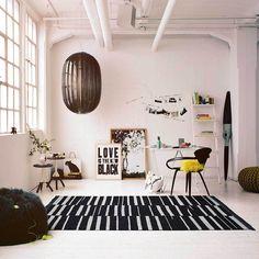 Tapis Tapis Skid Marks - Naturel / Noir - 80 x 150 cm Tapis Skid Marks - Naturel / Noir - 80 x 150 cm