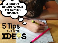 GREAT POST! Helping students generate ideas for writing! Creating Readers and Writers: Gathering Writing Ideas