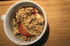 Apple, Nut and Granola Parfait