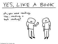 Comic by Toothpaste For Dinner: yes like a book