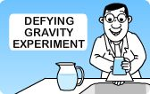 Fun Science Experiments for Kids. Teach your child all about gravity. Make gravity free water with a cup and cardboard.