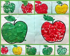 Well apple season is fading fast and next will come Fire Safety, Autumn, Bats, Scarecrows and Pumpkins! This year there are no religious con. Kindergarten Crafts, Teaching Kindergarten, Preschool Activities, Teaching Ideas, Preschool Apples, Diy Crafts For Kids Easy, Fall Crafts, Fruit Crafts, Apple Crafts