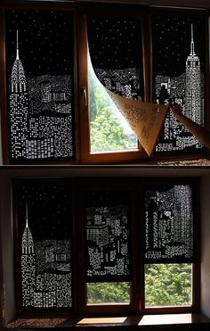 Blackout City Curtains by HoleRoll.