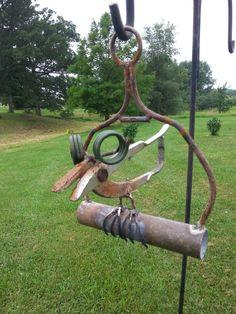 Shear bird Junk Metal Art, Metal Yard Art, Scrap Metal Art, Junk Art, Metal Art Projects, Metal Crafts, Garden Art, Garden Totems, Metal Art Sculpture