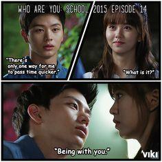 Yook Sung Jae is one smooth operator. Do his moves work on Kim So Hyun? #WhoAreYouSchool2015